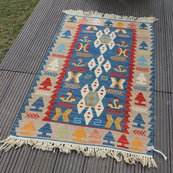 """Picture of 2'6"""" x 3'11""""   Turkish Small Kilim"""